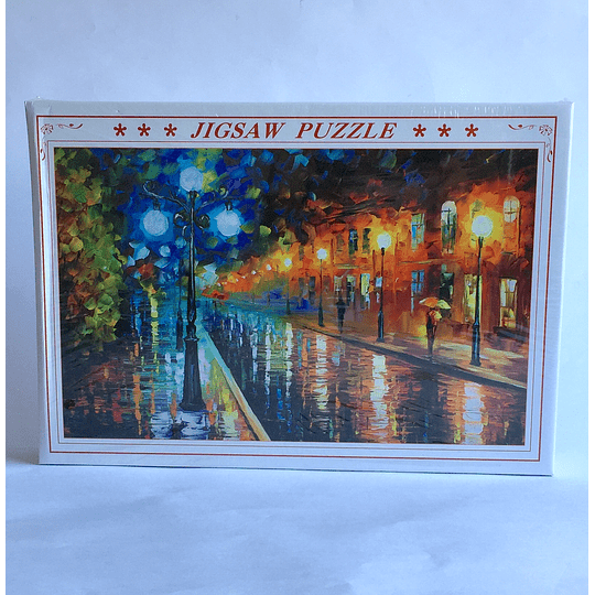 puzzle 1000 pcs  50x75 Leonid Afremov - Blue lights at night