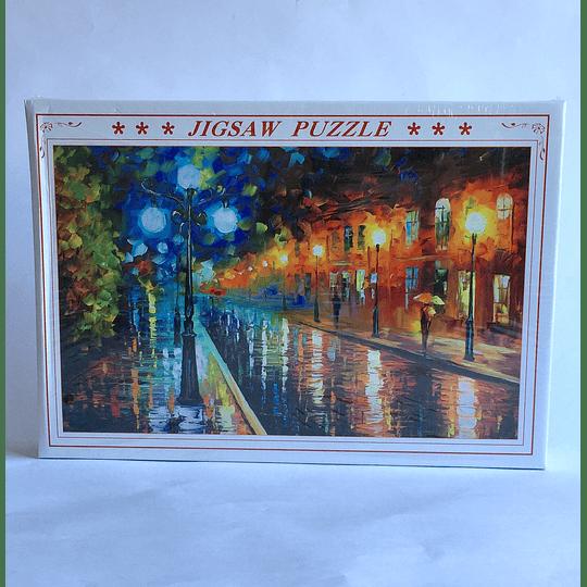 puzzle 1000 pcs  50x75 Leonid Afremov - Blue lights at night