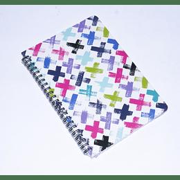 cuadernoa 77 hojas Espiral 14,5x21 cruz