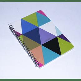 cuadernoa 77 hojas Espiral 14,5x21 triangulos