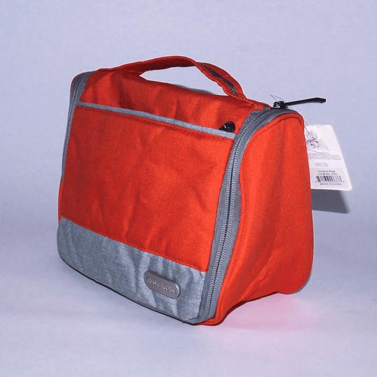 Travel Bag - Bolso Cosmetiquero Naranjo/gris