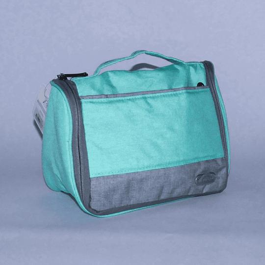 Travel Bag - Bolso Cosmetiquero Verde/gris