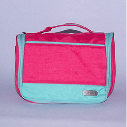 Travel Bag - Bolso Cosmetiquero Fucsia/gris