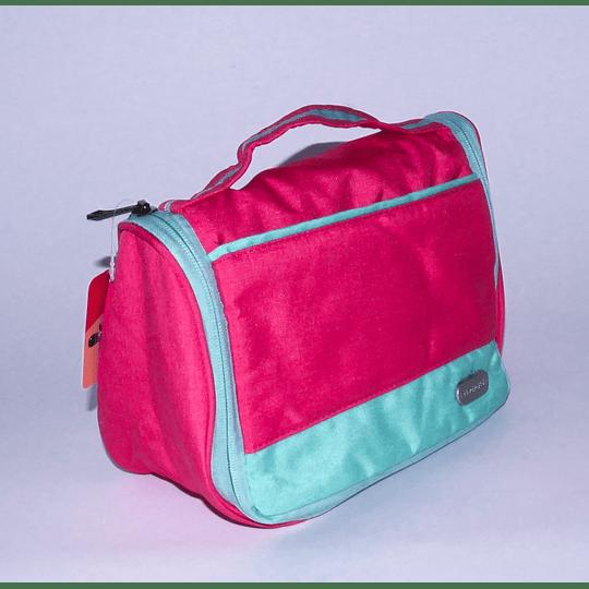 Travel Bag - Bolso Cosmetiquero Fucsia/gris