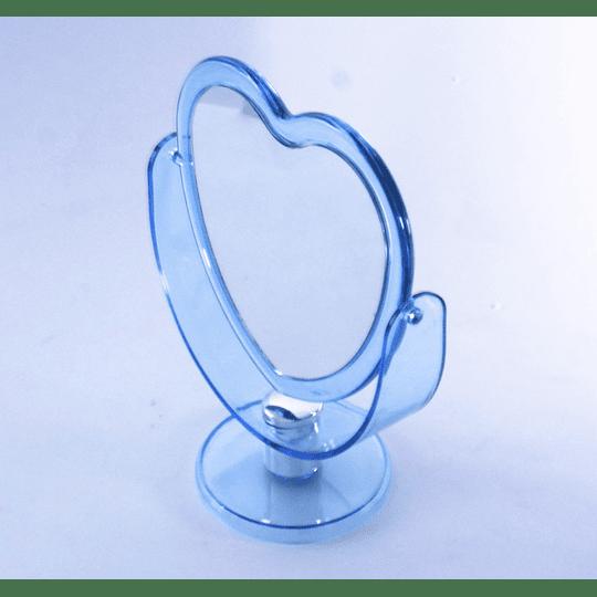 Espejo Acrílico forma Corazón azul