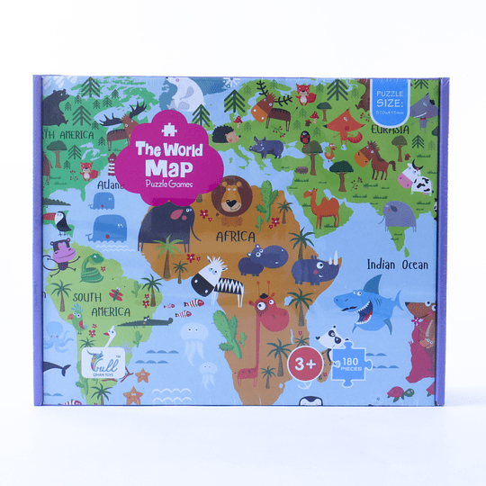 Puzzle 180 pcs The World Map 570x415mm