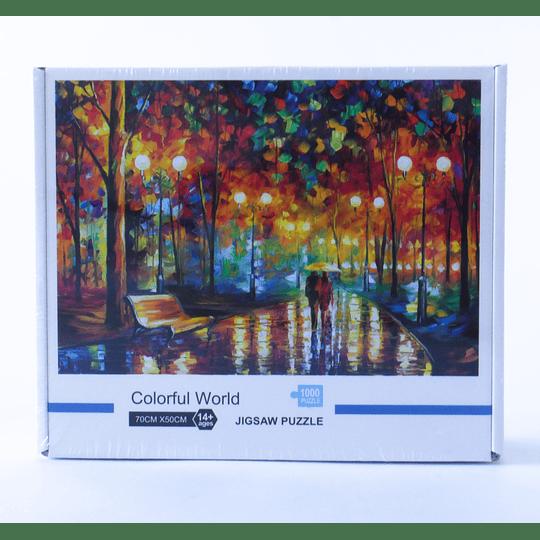 Puzzle 1.000 pcs  Noche Lluviosa - Leonid Afremov 70x50