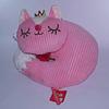 Cojín Acurrucado Pink Cat