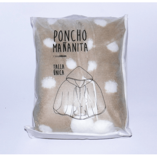 Poncho Mañanita Beige