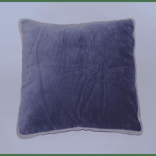 Cojín Diseño Velvet Bicolor Azul/Mora