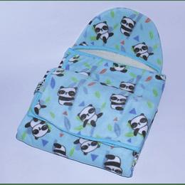 Chal Capucha Doble Bebé Panda 0-6meses