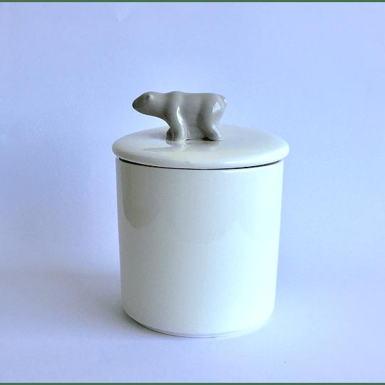 Canister Cerámica / Tapa animal 700ml