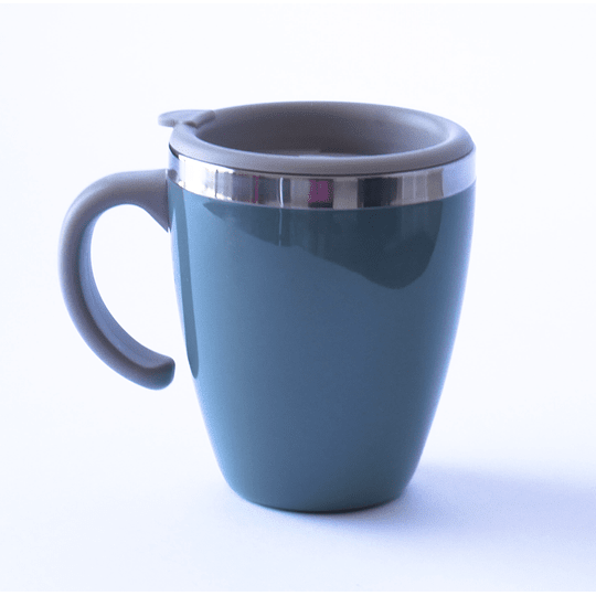 Mug Térmico Doble Muro 450ml Verde Oscuro