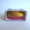 Cepillo de Pelo Ovalado 6,5x8cm Dorado Escarcha