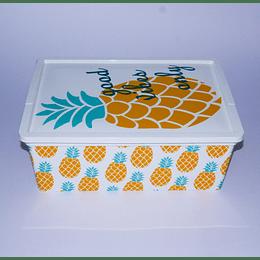 Caja Organizadora Plástica con Tapa Piña