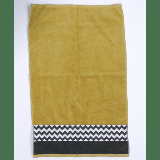 Toalla 50x80 600gr amarillo/gris