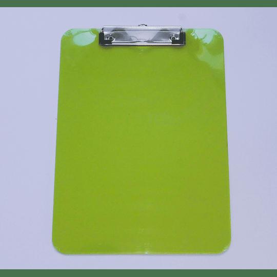 Tabla Portapapeles con apretador y medidas cm / Clip Board verde