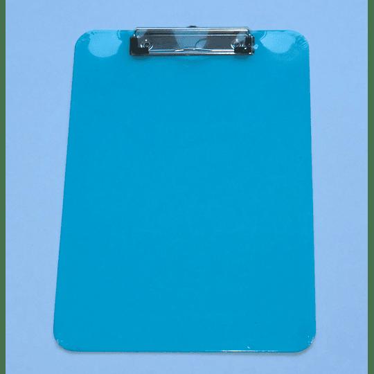 Tabla Portapapeles con apretador y medidas cm / Clip Board cyan