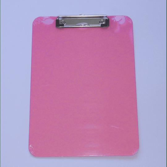 Tabla Portapapeles con apretador y medidas cm / Clip Board rosado