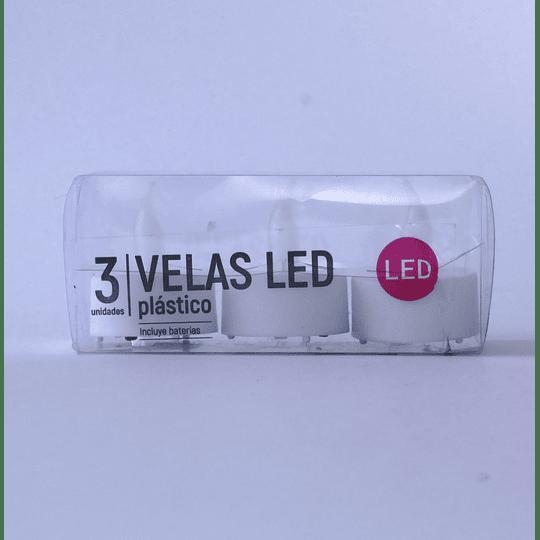 Velas Led Tealight Set 3 unidades