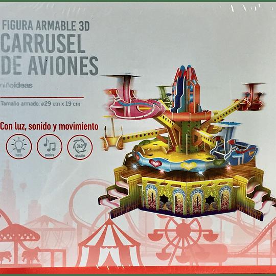 Carrusel de Aviones Armable 3D