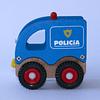 Carro Policía Madera 11x5,5x10