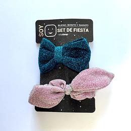 Set de Fiesta Pinza y Colet Lurex