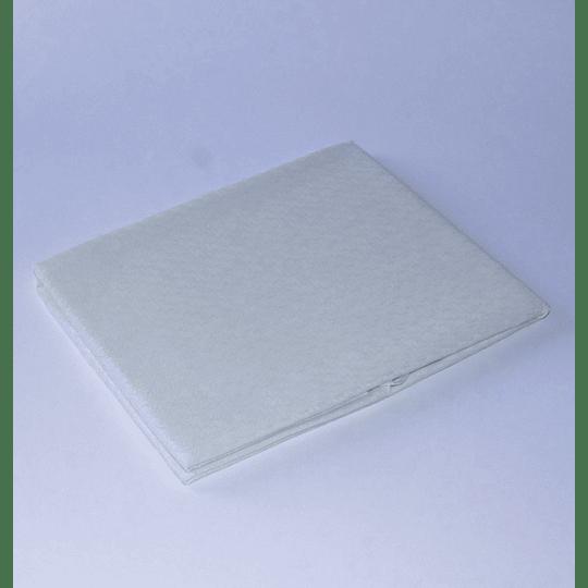 Mantel 150 Redondo  Jacquard / blanco invierno