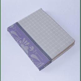 Mantel 150x150  Jacquard Diseño beige/lila