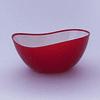Bowl Borde Irregular Ondas 20cm Rojo
