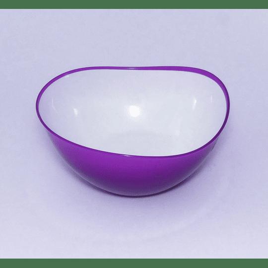 Bowl Borde Irregular Ondas 20cm Morado