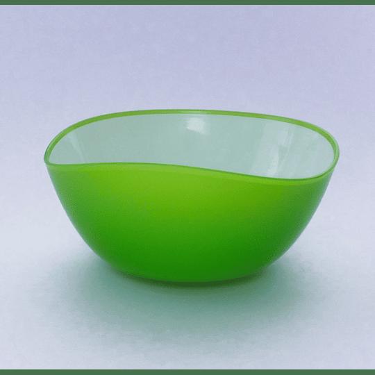 Bowl Borde Irregular Ondas 20cm Verde manzana