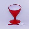 Copa de Postre Helado y Cuchara - Rojo