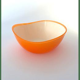 Pocillo Cereal Irregular Ondas 13,5cm blanco-Naranjo