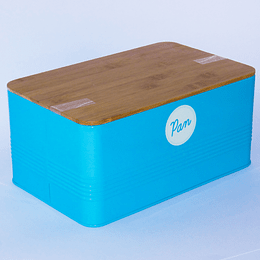 Caja para Pan Tapa Bambú Turquesa