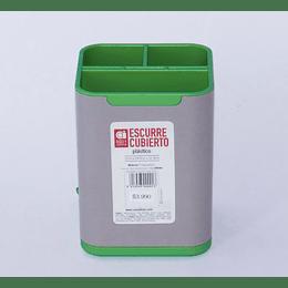Escurre Cubierto Plástico verde/gris