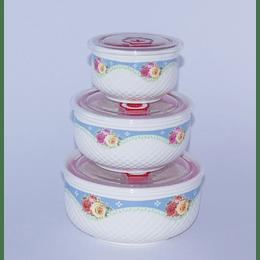 Set 3 Bowls con Tapa