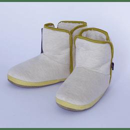 Pantufla Botín Jersey 39-40 beige