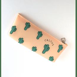 Estuche Silicona Cactus Damasco