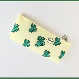 Estuche Silicona Cactus Amarillo