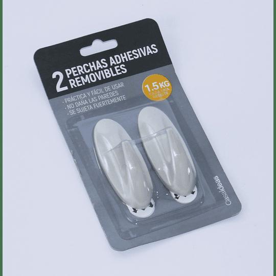 2 Perchas Adhesivas Removibles  Blanco Invierno