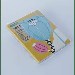 Libreta 16x21  100 Hojas Composición Tapa Blanda flor