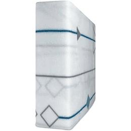 Sábanas de Polar Composé 1.5 Plazas / triangulo cuadrado  azul Doral
