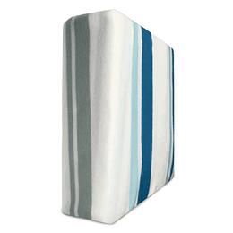 Sábanas de Polar Composé 2 Plazas /rayas azules grises