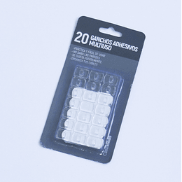ganchos autoadhesivos multiuso 20 unid