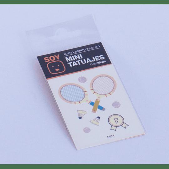 Mini Tatuajes Badminton