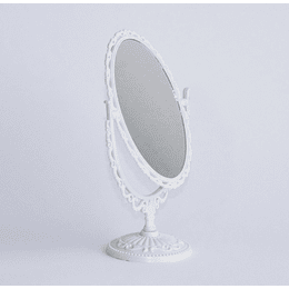Espejo Ovalado Blanco