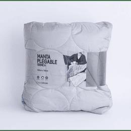 Manta Plegable Térmica Gris/turquesa