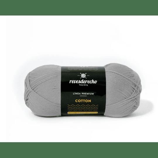 Lana Cotton 100% algodón premium gris acero 056