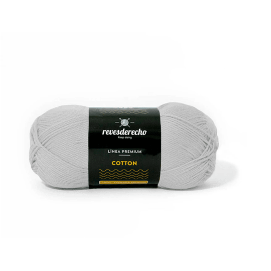 Lana Cotton 100% algodón premium revesderecho gris perla 018